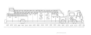 Adorable Fire Truck Coloring Page 22 - Artsybarksy