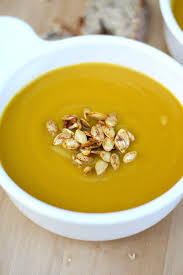 Spicy Pumpkin Butternut Squash Soup by Butternut Squash Soup With Spicy Squash Seeds Vegukate