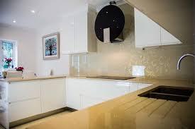 DESIGNER GLITTER Patterned Kitchen Glass Splashback Contemporary