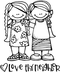 Love Thy Neighbor Girls Find This Pin And More On Bible Coloring Pages