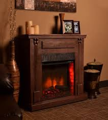 417 Inch Bond Rustic Dark Wood Electric Fireplace