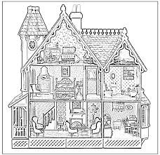 Barbie Doll House Coloring Pages