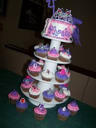Fancy Nancy cupcake tower