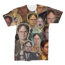 Dwight Schrute The fice Collage T shirt Subliworks