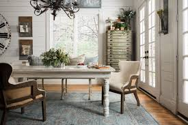 Ella Dining Room And Bar by Joanna Gaines Magnolia Home Rug Ella Rose Collection Lt Blue