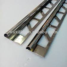 metal ceramic tile trim punched tile adge trim connection