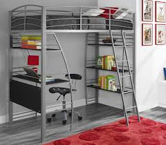 Tromso Loft Bed by Amazon Com Dhp Studio Loft Bunk Bed Over Desk And Bookcase With