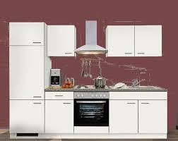 küchenzeile mankabox 2 küche 270 cm in weiß mit e geräte