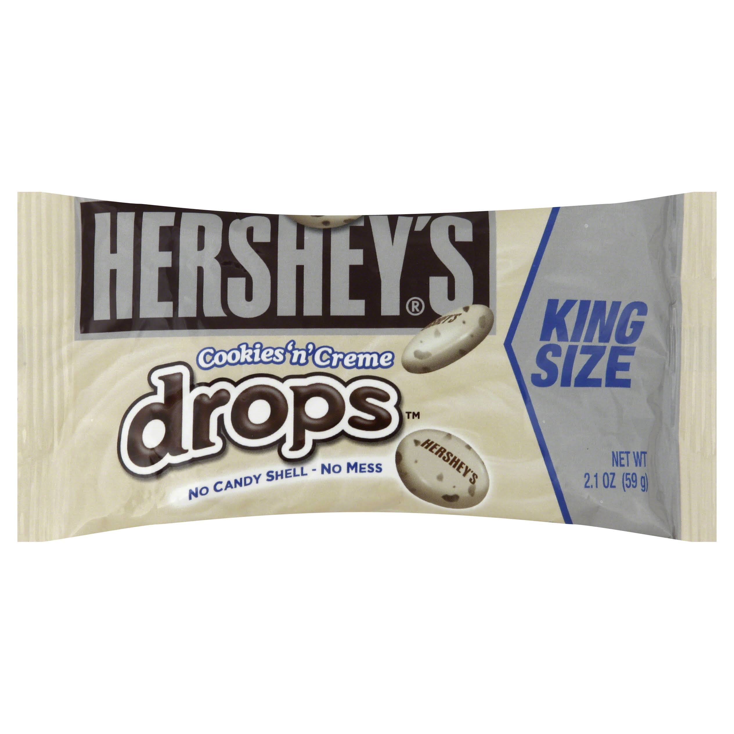 Hershey's Drops - Cookies 'n' Creme, 59g, 18 Count, King Size