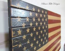 Interesting Design Ideas Wooden American Flag Wall Hanging Burned Outdoor Rustic Wood