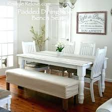 Table With Bench Seating Dining Room Seat Large Size Of Set