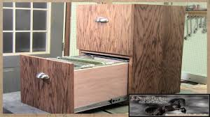 Three Drawer Filing Cabinet Wood by Make A Simple 2 Drawer Filing Cabinet Youtube