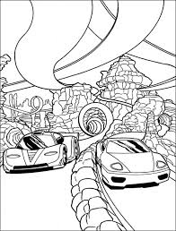 Printable Coloring Pages Cars Racing Bestofcoloring