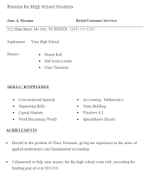 Sample Resumes High School Students Objective For A Student Resume Of