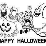 Free Spongebob Coloring Pages Printable Halloween Calendar Sheets