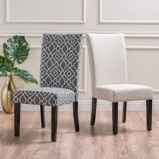 Jami Patterned Fabric Dining Chair By Christopher Knight Home Set Of 2