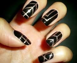 Glamorous Black and Gold Nail Designs