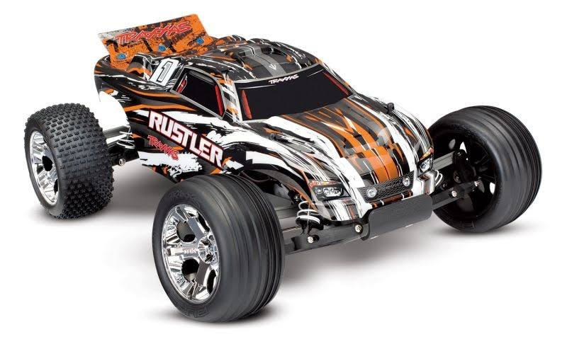 Traxxas Rustler RTR Stadium Truck Model - Orange XL-5, 1:10 Scale