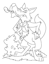 Wolf Blowing Coloring Pages