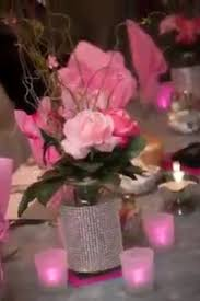 Pink And Silver Wedding Decor For Sale Roses