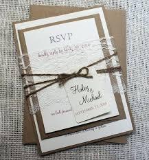 Custom Rustic Wedding Invitations Invitation Lace Shabby Chic Stationary