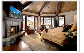 Refined Style River Bend Ranch Home Salt Lake City Homes Rustic Master Bedroom