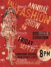Fall Fashion And Style Show Poster Design Template Royalty Free