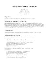 Apparel Design Resume Examples With Fashion Designer Sample