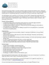 Landscaper Resume Landscape Job Description