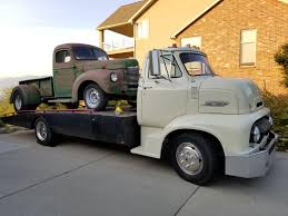 1954 Ford C600 & 1947 International Dump Truck : Trucks