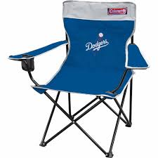 Coleman Camping Oversized Quad Chair With Cooler by Coleman Mlb Los Angeles Dodgers Quad Chair Walmart Com