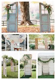 Using Old Doors For Wedding Entrance Backdrops Or Focal Points