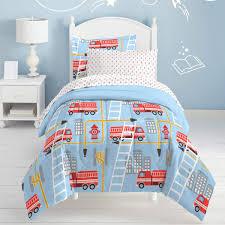 100 Fire Truck Bedding Amazoncom N2 7 Piece Kids White Blue Red Trucks Comforter Set