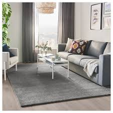 stoense teppich kurzflor mittelgrau 200x300 cm ikea
