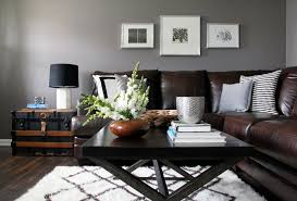 Image Of Black Brown Living Room Furniture Leather