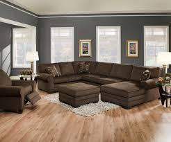 Camo Living Room Ideas by Modern Minimalist Living Room Design With Dark Brown U Shaped