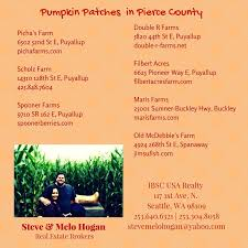 Puyallup Pumpkin Patch by Usa Realty Pumpkin Patches In Pierce And King County