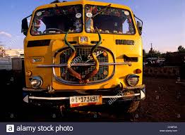 100 Truck Horns Ethiopia Konso Truck Decorated With Kudu Horns Stock Photo
