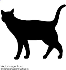 cat silhouette walking cat silhouette vector graphic