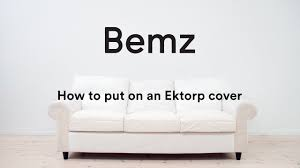 Can You Wash Ikea Kivik Sofa Covers by How To Put Your Bemz Cover On An Ikea Ektorp Sofa Youtube