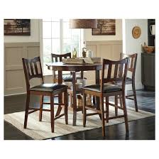 Tall Dining Room Table Target by Renaburg Counter Height Dining Room Table Medium Brown