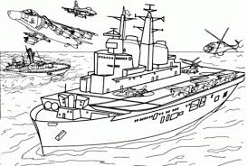 Invincible Class Aircraft Carrier Coloring Page
