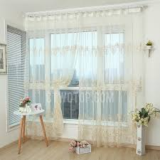Gold And White Sheer Curtains by Elegant Gold And Beige Luxury Embroidered Floral Sheer Curtain