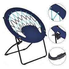 Round Bungee Chair Walmart by Costway Folding Round Bungee Chair Steel Frame Outdoor Camping
