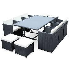 tables de jardin en resine salon de jardin résine tressée 6 à 10 places vasto