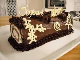 comment decorer une buche de noel roulé au chocolat facile de cyril lignac