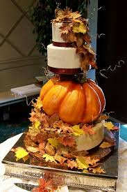 Sick Fall Wedding Cake