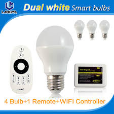 4x e27 a60 6w wifi smart light bulb white dimmable color