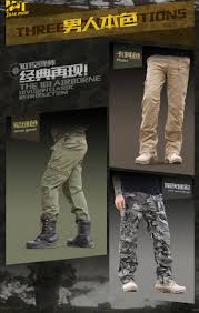 101 airborne jeans casual breathable multi pocket military