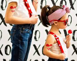 Mom And Dad Temporary Tattoos Funny Valentine Gift Cute Fake For Kids Set Of Large